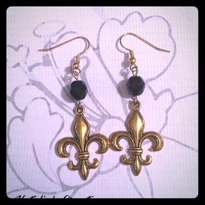 Jewelry - ⚜️🖤New Orleans Saints Inspired Earrings🖤⚜️